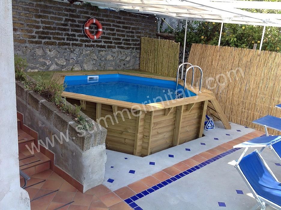Appartamento nemorina a appartamento ammobiliato in praiano costiera amalfitana italy - Piscina per terrazzo ...